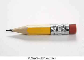 Short pencil. - Still life of short worn down pencil.