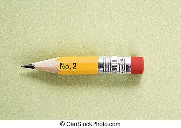 Short pencil. - Still life of short worn down number 2...