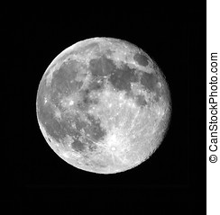 Full moon - Close up of a full moon in a summer night, 2013...