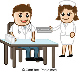 Doctor in Clinic with Nurse