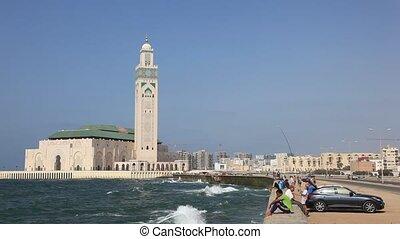 Mosque of Hassan II in Casablanca - Great Mosque of Hassan...