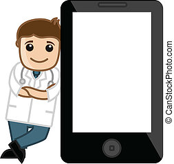 Doctor Standing with Tablet Device