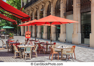 typical Restaurant Terraces in Barcelona