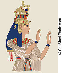 Egyptian Queen Taia - Portrait of Egyptian Queen Taia, wife...