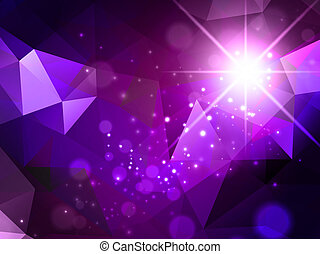 Abstract Background With Star - Bright Purple Abstract...