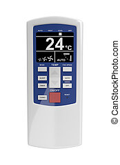 Remote control - Air conditioner remote control isolated on...