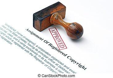 assegnazione, registrato, copyright