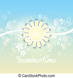 Summer background - Decorative background with a summery...