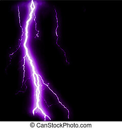 Abstract purple lightning flash background. Vector...