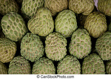 custard apples stack