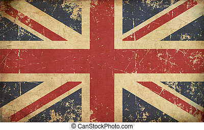 UK Aged Flat Flag - Illustration of an rusty, grunge, aged...