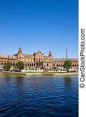 Plaza de España, Seville, Spain - Plaza de Espana (square of...
