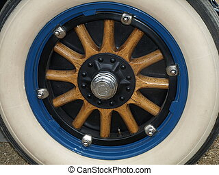 Oldtimer wheel - Spare wheel of a classic car