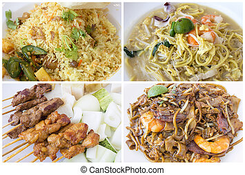 Southeast Asian Singapore Local Food Collage - Southeast...