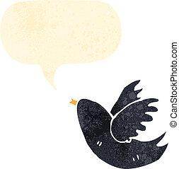 singing blackbird retro cartoon