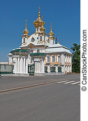 The church in Peterhof - St. Petersburg, Russia - June 2:...
