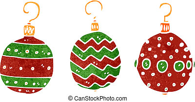 retro cartoon christmas decoration