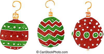 retro cartoon christmas decoration