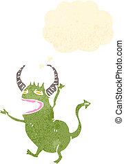 cartoon little green devil