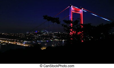 FSM Bridge 8 - blue time Fatih Sultan Mehmet Bridge at...