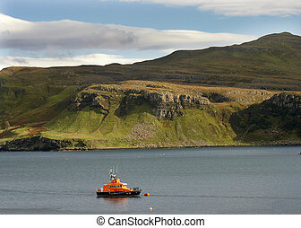 Lifeboat - lifeboat in harbour waters