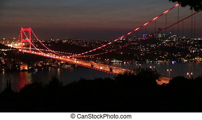 FSM Bridge 6 - blue time Fatih Sultan Mehmet Bridge at...