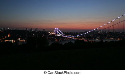 FSM Bridge 3 - blue time Fatih Sultan Mehmet Bridge at...