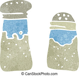 retro cartoon salt and pepper