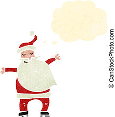 retro cartoon santa claus