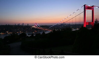 FSM Bridge 1 - blue time Fatih Sultan Mehmet Bridge at...