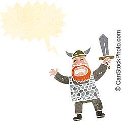 cartoon viking shouting