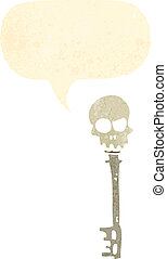 retro cartoon,skeleton key