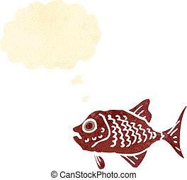 retro cartoon,piranha,