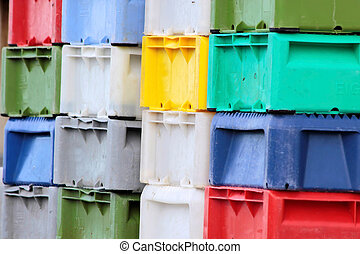 Colorful boxes for fish