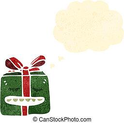 retro cartoon christmas present