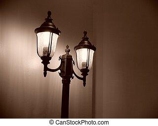 Street Lamp Post Sephia - Lamp Post Sephia