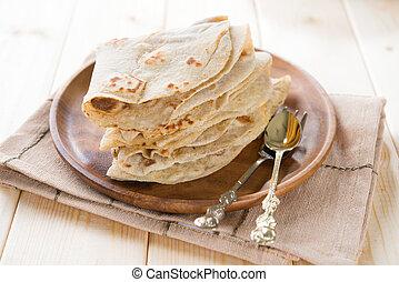 Plain chapatti roti - India vegetarian food plain chapatti...