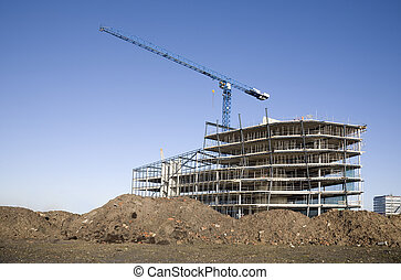Construction site - A construction site in Leidsche Rijn,...