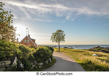 Coastal road on Bornholm - Coastal road to the small town of...
