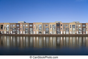 Housing development - New houses in Leidsche Rijn, Utrecht,...