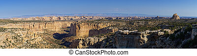 Eagle Canyon in the San Rafael Swell - panoramic image of...