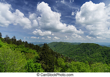 Great Smoky Mountains National Park landscape from Newfound...
