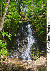 Cataract Falls Waterfall - high dynamic range image of...