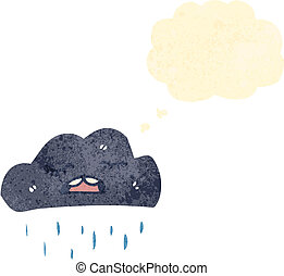 raincloud retro cartoon