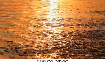 Water Reflection - Sunset reflected off the water