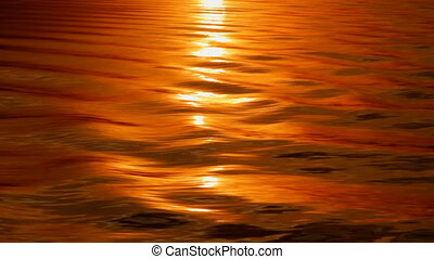 Water Reflection. - Sunset reflected off the water.