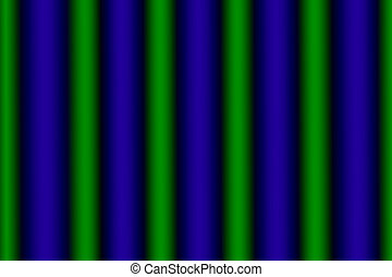Glowing Green and Blue Vertical Rows - Vertical rows...