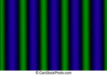 encendido, verde, azul, vertical, filas