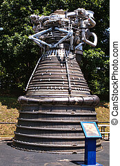 Satern F-1 Rocket Engine on Display at the Space and Rocket...