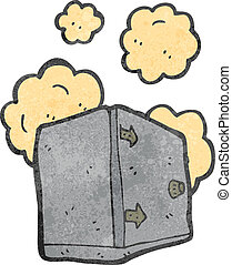 dusty old safe retro cartoon